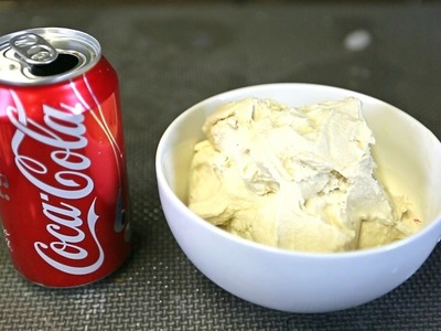 DIY Coca Cola Flavored Ice Cream