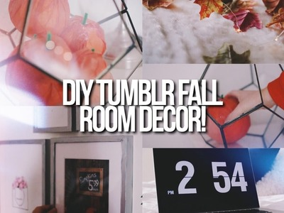 DIY CUTE + EASY FALL ROOM DECOR 2016!. Tumblr Inspired