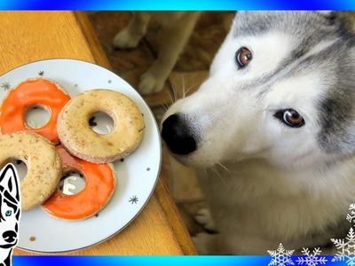 DIY DOG TREATS APPLE CINNAMON DONUTS | Snow Dogs Snacks 57 | DIY Dog Treats
