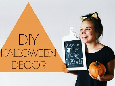 DIY ECO HALLOWEEN DECOR | Zero Waste Halloween