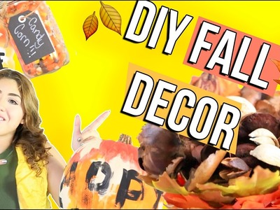 DIY FALL DECOR 2016 | quick easy and cool room decor life hacks.DIY for fall
