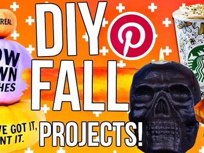DIY Fall Projects! DIY Room Decor, Last Minute Costume + More!