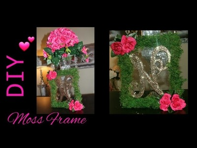 DIY: How to make a Moss Table Frame with Personalized Letter   Wedding Chair Decor   Wall Art