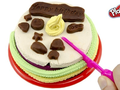 DIY How To Make Birthday Cake From Play Doh Creative Fun For Kids