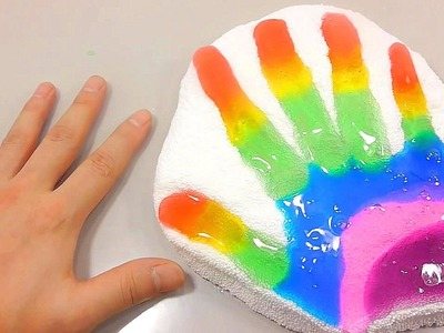 DIY How To Make Hand Finger Colors Jelly Slime Foam Clay Toys | If You Are Happy | Bath Song | BINGO