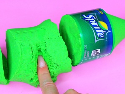 DIY How To Make 'Kinetic Sand SPRITE' Learn Colors Slime Foam Clay Icecream