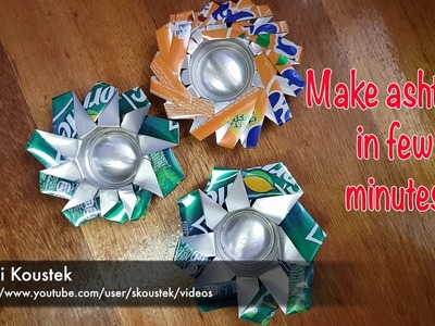 DIY - how you make Ashtray using soda cans in few minutes