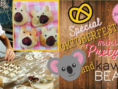 DIY! MINI Pretzels & KAWAII bears | Pink Pie Factory | Lara-Marie | Oktoberfest Special Salted Bread