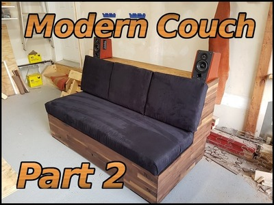DIY Modern Walnut Couch (2)