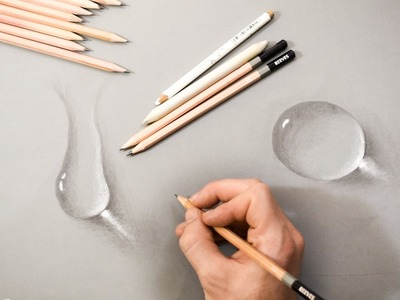 How to Draw Water Drops using Pencil on Paper