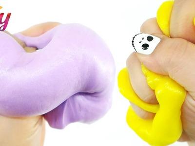 How to make Fluffy Slime DIY with Shaving foam - Marshmallow Slime