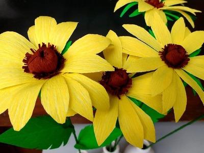 Paper Flower Black eyed Susan (flower # 87)