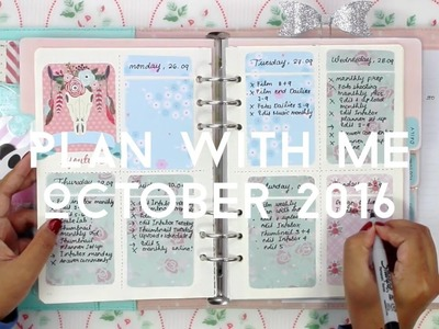 PLAN WITH ME OCTOBER 2016 || HOW I SET UP MY WEEKLY PAGES IN MY KIKKI.K PLANNER