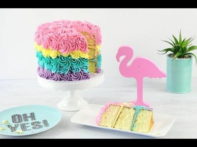 RAINBOW Rosette Cake Decorating! - CAKE STYLE
