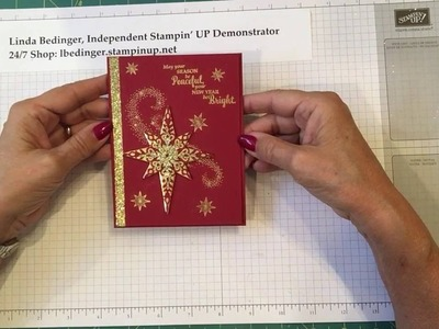 Red & Gold Starlight Christmas Card