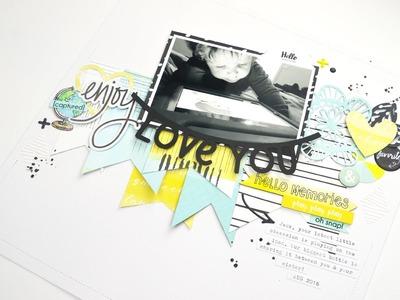 Scrapbook Process Video - Love You; Hip Kit Club