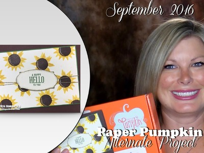 September 2016 Paper Pumpkin card kit Giveaway, & Alternate Card featuring Stampin Up