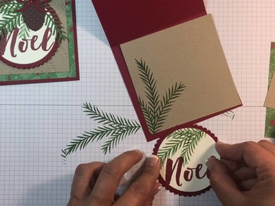 Stampin Up! Christmas Pines Card