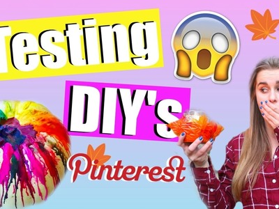 Testing WEIRD Fall DIY's: Pinterest Inspired!