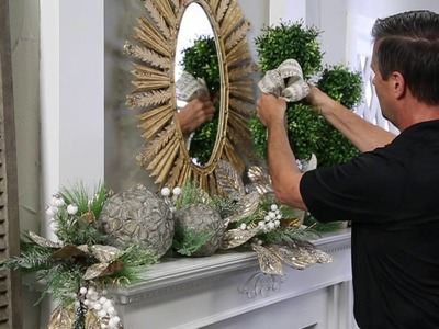 Turn Your Everyday Mantle into a Christmas Mantle.