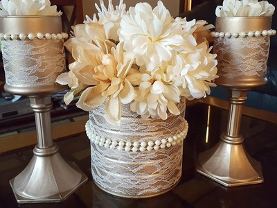 Upcycled Candle Holders - Dollar Tree DIY