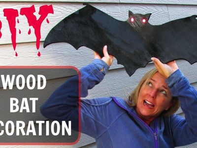 Wood Bat Decoration | DIY Project | Craft Klatch |  Halloween Series | How To