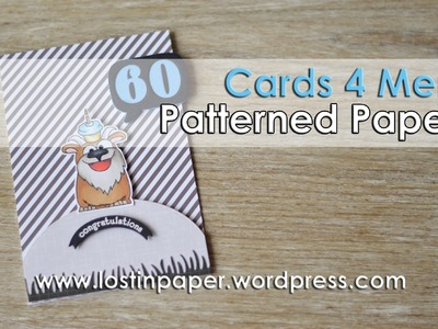 Cards 4 Men - Using Patterned Paper with Images