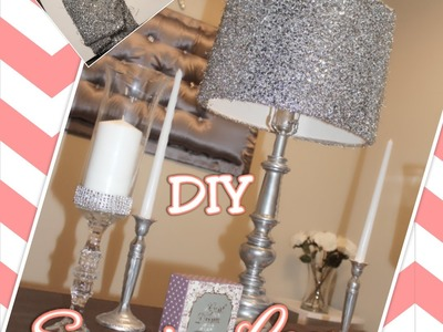 DIY Sequin Lamp Shade | Thrift Store Transformation| How to Cheap Room Decor