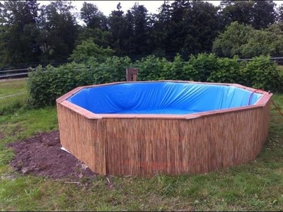 DIY Swimming pool made of pallets. How to build step by step