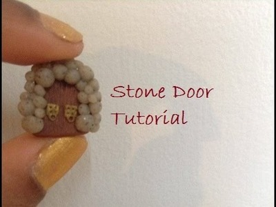 EASY Polymer Clay Fairy door Tutorial