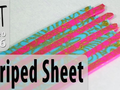 How To Make A Striped Pattern Polymer Clay Sheet