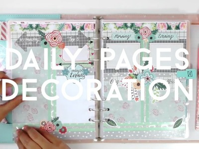 #05.10 DIY Planner Decoration: HOW I SET UP MY DAILY PAGES IN MY KIKKI.K PLANNER