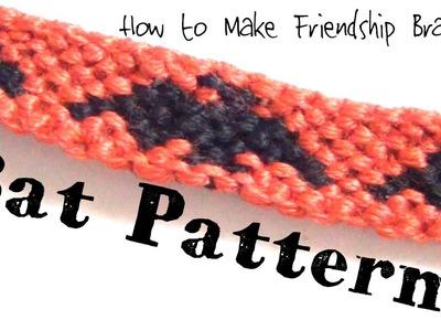 Bat Pattern ♥ How to Make Friendship Bracelets