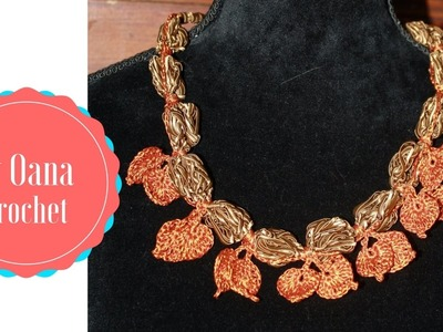 Crochet Autumn necklace- by Oana