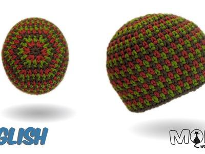 Crochet hat - Moss Stitch Beanie No. 2 - Tweed Style