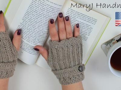 Crochet tutorial: fingerless gloves (Written pattern in description)