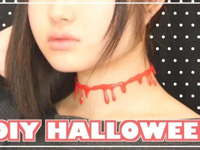 DIY Choker Tutorial for Halloween