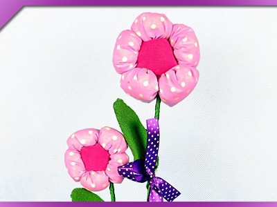 DIY Fabric flowers for Teachers' Day, Mother's Day (ENG Subtitles) - Speed up #262