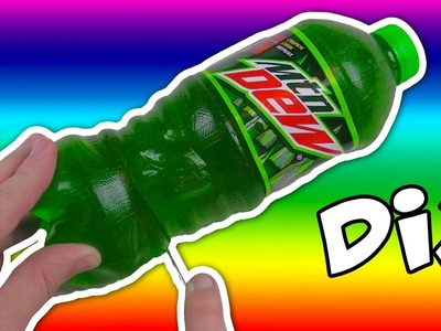DIY How to Make EDIBLE GUMMY Soda Bottle MOUNTAIN DEW Cola Jello
