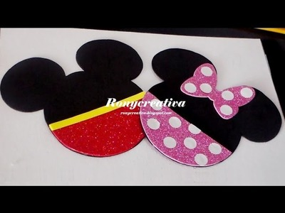 DIY Mickey & MInnie mouse birthday invitation - invitaciones de mickey & minnie mouse