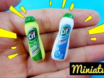 DIY Miniature Cif Cream. Đồ chơi trẻ em làm chai tẩy đa năng Cif cho búp bê. Ami DIY