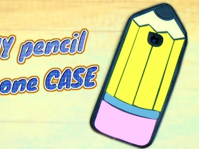 DIY PENCIL PHONE CASE - for iPhone 7 or any phone model - SCHOOL CRAFTS - Isa ❤️