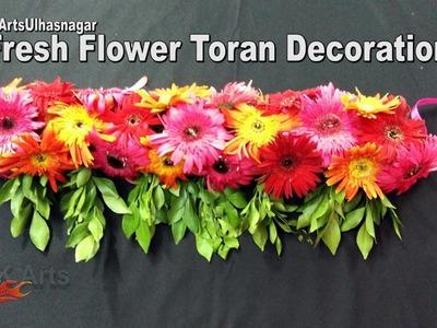 DIY Toran. Bandhanwar from Fresh Flowers | How to make |  JK Arts 1100