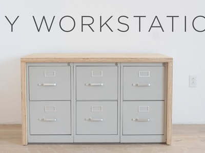 DIY Workstation | How to make a craft table with storage