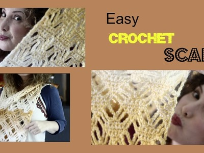 Easy Diamond and chains Ombre Crochet Scarf