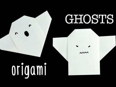 Easy Origami Ghost Tutorial
