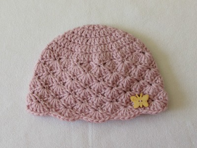 How to crochet a cute baby girl's hat for beginners