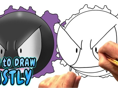 How to Draw Gastly from Pokemon Go - Very Rare (NARRATED)
