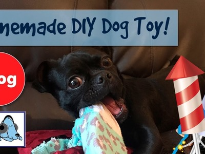 How to Make a DIY Homemade Dog Toy! Easy to Make Dog Toy.