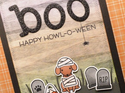How to make a mummy Halloween card